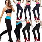 Hot Women YOGA Workout Running Pant High Waist Cropped Leggings Girls Gym Pants