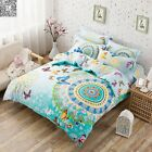 Floral New 100% Cotton Quilt/Doona Cover Set Single/Double/Queen Size Bed Linen