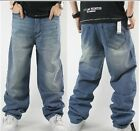 Graffiti embroidery Cool Men's Hip Hop Jeans Casual Pants Size 32-42 022