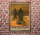 London #2 - Vintage Rail Channel-Crossing Travel Poster