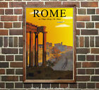 Rome via Daily Luxury Air Service - Vintage Air Travel Poster