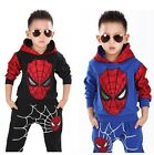 2PCS Baby Boys long sleeve Spiderman Top+Pants Set Kids Casual Clothes 2-9Years