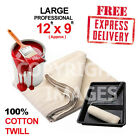 LARGE PROFESSIONAL 100% COTTON TWILL  (12ft x 9ft) DUST SHEETS COVERS 24 HR DEL