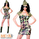 Major Trouble Ladies Fancy Dress Army Military Uniform Womens Adults Costume New