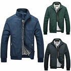 New Men's Slim Collar Jackets Fashion Bomber Tops Casual Trench Coat Outerwear