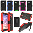 For Alcatel OneTouch Fierce XL Robotic Armor Holster Belt Clip Stand Cover Case