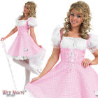 LADIES LONGER LENGTH BO PEEP FAIRYTALE STORYTIME BOOK WEEK FANCY DRESS COSTUME