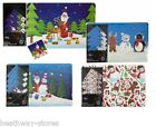 8 PIECE CHRISTMAS TABLE PLACE SET 4 COASTERS 4 PLACE MATS  SNOW WHITE BRANDED