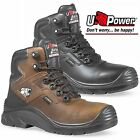 NEW U-POWER GORE-TEX COMPOSITE TOE CAP WATERPROOF LEATHER MENS SAFETY BOOTS SIZE