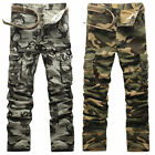 Cool New Combat Men's Cotton Military Cargo Pants Camouflage ARMY Camo Trousers