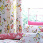 Catherine Lansfield Birds Boutique Floral Lined 66 x 72 Ring Top Eyelet Curtains
