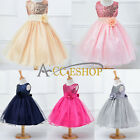 Flower Girls Princess Pageant Wedding Party Vintage Sequin Xmas Birthday Dress