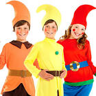 Kids Dwarf Gnome Elf Fancy Dress Christmas Xmas Girls Boys Childs Costume Outfit
