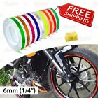 "6mm 1/4"" 0.25"" PIN STRIPE Striping Car Motorcycle WHEEL RIM Decal Vinyl Stickers"