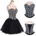 Sexy Womens Short Prom Dress Formal Party Evening Wedding Bridesmaid Ball Gown
