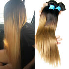 1B/27# Ombre Real Human Hair Extensions 2 Tone Ombre 100g/Bundle Virgin Hair