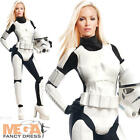 Stormtrooper Ladies Fancy Dress Star Wars Movie Villain Womens Adults Costume