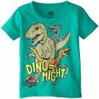 % Jurassic Park Dinosaur Dino-Might Toddler Boys T-Shirt - Green