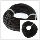 High Quality 2.5mm Real Round Leather Cord 5/10/50/100M Fit Necklace Bracelet