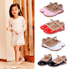 Stylish Baby Girls Princess Kids Sandals Rivet Buckle T-strap Flat Shoes 15 Size
