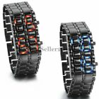 Mens Stainless Steel Lava Iron Samurai  Bracelet LED Digital Multifunction Watch image