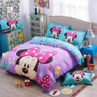 Minnie Mouse Quilt Doona Duvet Cover Set King Single Queen Size Cartoon Covers