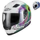 Shox Sniper Peacock Full Face Ladies Motorbike Helmet Motorcycle Womens Scooter