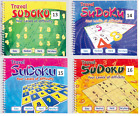 SUDUKO TRAVEL BOOKS 170 PUZZLES & 4 LEVELS PER A5 BOOK SPIRAL BOUND SERIES 3100