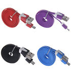 1M 2M 3M Flat Noodle Micro USB Charger Sync Cable For Android Phone Charming