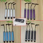 4x Retractable Acrylic Metal Touch Stylus Pens Anti-dust Plug for Phone Tablet