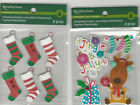 U CHOOSE  Recollections CHRISTMAS STOCKINGS JINGLE & JOLLY REINDEER 3D Stickers