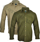 "Mens ""Moleskin Shirt"" Country, Hunting, Walking, Shooting ,Fishing Olive & Lovat"