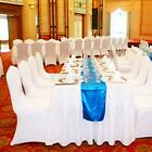 White Black Chair Covers Spandex Lycra Cover Wedding Banquet Flat Arched front