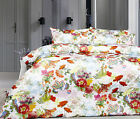 3 Pce 400TC HARMONY Bird Floral White Soft Touch Quilt Cover Set - DOUBLE KING