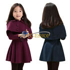 Girls Kid Trench Coat Wind Shrug Jacket Top Dress Outwear Outfit Clothing SZ 3-7