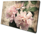 Garden Butterfly Vintage Floral SINGLE CANVAS WALL ART Picture Print