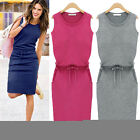Stylish Women's Summer Casual Sleeveless Evening Party Cocktail Short Mini Dress