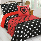 Dreamscene Heart of Hearts 5 Pc Bed in a Bag White Duvet Quilt Cover Bedding Set