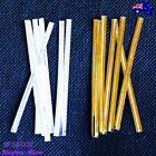 Reliable 900 Metallic Twist Ties-Gold or Silver-For Cello Bags  | AUSSIE Seller