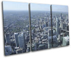 Chicago Skyline City TREBLE CANVAS WALL ART Picture Print