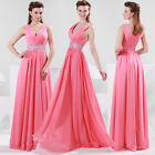 2016 Red SIZE 2~16 Formal Evening Ball Gown Bridesmaids Party Long prom Dresses