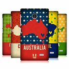 HEAD CASE DESIGNS PRINTED COUNTRY MAPS HARD BACK CASE FOR NOKIA PHONES 3
