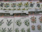 Flowers of the Month Textured Rub On Transfers Various Floral Designs