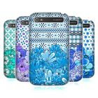 HEAD CASE DESIGNS FLORAL BLUE HARD BACK CASE FOR BLACKBERRY PHONES
