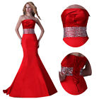 Sexy Long Satin FORMAL WEDDING EVENING Gown Prom Bridesmaid Cocktail Party Dress