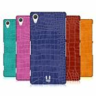 HEAD CASE DESIGNS CROCODILE SKIN PATTERN HARD BACK CASE FOR SONY PHONES 2