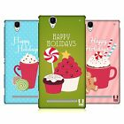 HEAD CASE DESIGNS HOLIDAY TREATS HARD BACK CASE FOR SONY PHONES 3