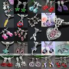 5pcs Angel Ribbon Dangle Charms Pendant European Spacer Beads For Jewelry DIY