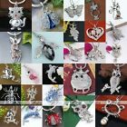 Silver Plated Crystal Rhinestone Animal Charm Pendant For Chain Necklace Jewelry