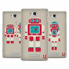 HEAD CASE DESIGNS RETROBOTS SOFT GEL CASE FOR SONY PHONES 3